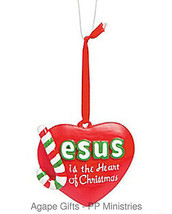 FE-OTC Christmas Religious Ornament - Jesus is the Heart of Christmas - $6.95