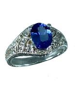 14k Tanzanite   & Diamonds Ring, White, Yellow, Rose Gold, Free Sizing, ... - $499.00