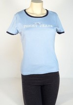 Tommy Jeans Signature Blue Short Sleeve Tee T Shirt Womens Large L NWT - $22.27
