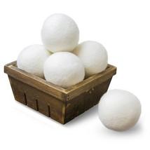 SnugPad Wool Dryer Balls by 6-Pack, XL Size Premium Reusable Natural Fab... - $15.93