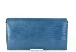 Auth Louis Vuitton Paris Epi Leather Toledu Blue Envelope Long Wallet CA0065 - $137.61