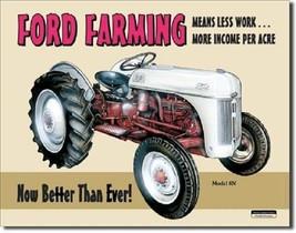 Ford Farming 8N Tractor Farm Equipment Vintage Retro Wall Decor Metal Tin Sign - $14.99