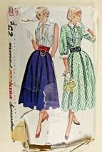 Vtg 1950 Sewing Pattern Simplicity #3144 Womens Skirt Blouse Cummerbund ... - $23.22