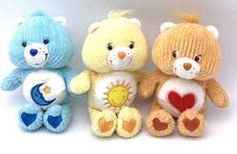 "Care Bears Lot Of 3 Bedtime, Funshine, And Tenderheart Bear Plush 2003 8"" - $39.60"