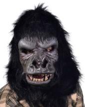 Gorilla Mask Two Bit Roar Primate Ape Moving Mouth Halloween Costume Par... - $116.96 CAD