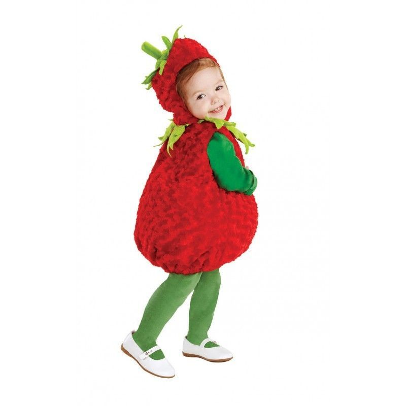 Underwraps Strawberry Belly Babies Infant Toddler Halloween Costume 25973