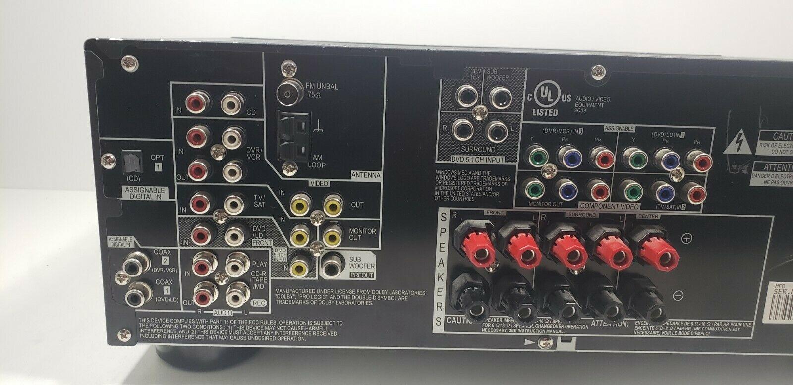 Pioneer Audio Video Multi-Channel Receiver VSX-517-K/Remote bundle  Tested