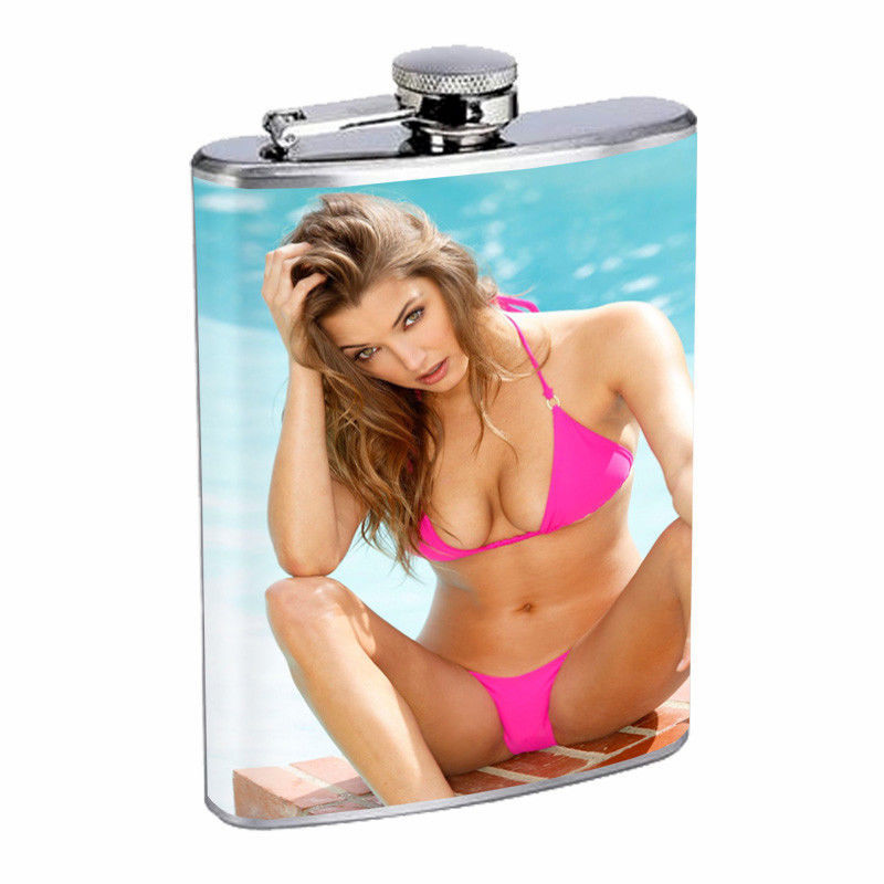 Norwegian Pin Up Girls D5 Flask 8oz Stainless Steel Hip Drinking Whiskey
