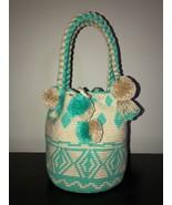 Authentic 100% Wayuu Mochila Colombian Bag Medium/large Short Handles Po... - $60.00