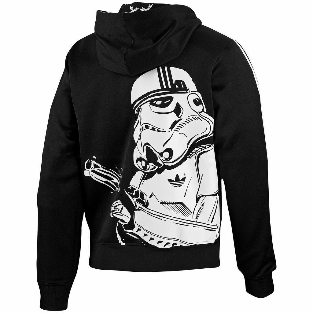 Details about New Adidas Original Stormtrooper Jacket StarWars Flock Track hoodie Black P99646