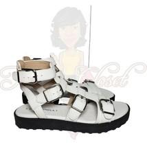 Via Spiga Women's White Gladiator Open Toe Buckle Sandals Sz 6.5 - $80.00