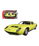 Lamborghini Miura P 400 S Yellow 1/24 Diecast Model Car by Motormax  73368y - $40.35