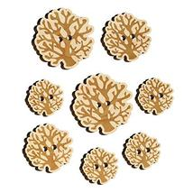 Coral from The Ocean Reef Wood Buttons for Sewing Knitting Crochet DIY Craft - L - $9.99