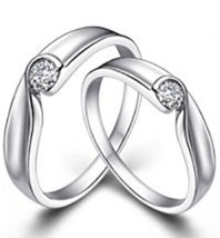 Round Cut CZ White Gold Over 925 Silver Solitaire Band Ring For Your Dear Once  - $89.99