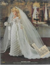 Crochet Collector Costume Vol. 35-1889 Bridal Gown-Bodice-Skirt-Bouquet-... - $9.46