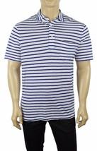 New Polo Ralph Lauren White Blue Striped Chest Pocket Jersey Polo Shirt 2XL $85 - $37.99
