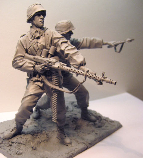 Waffen SS 1941East Front soldiers with base figure Historical WWII Figure Resin