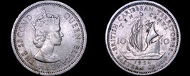 1956 East Caribbean States 10 Cent World Coin - $5.99