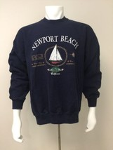Newport California CA Blue Sweatshirt XL Extra Large Sail World Class Cr... - $36.56 CAD