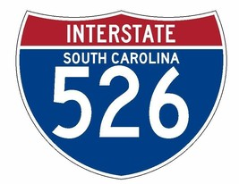 Interstate 526 Sticker R2003 South Carolina Highway Sign Road Sign - $1.45+