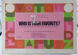 Vintage Board Game WHO IS YOUR FAVORITE? Judy Face Game 1973 & instructions - $22.20