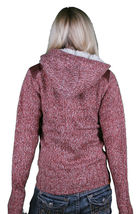 Bench Wolfster Red Knit Zip Up Sweater Hooded Jacket Hoodie image 7