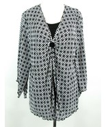 MAGGIE BARNES Size 24W Crystal Pleated Layered-Look Top ** - $19.99