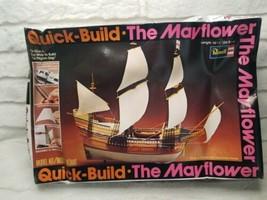 """The Mayflower Quick Build Model - Revell H-307 - 14 3/8"""" Length - Damage... - $15.34"""