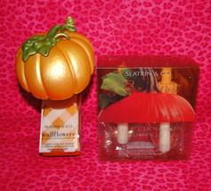 Bath & Body Works Slatkin Wallflower Plug In Diffuser Pumpkin W/Refills - $26.95