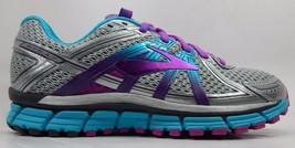 Brooks GTS 17 Womens Running Shoes Sz US 8 M (B) EU 39 Silver Purple 1202311B055