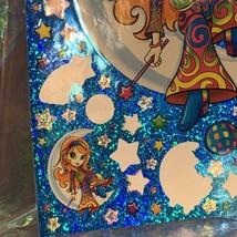 "VINTAGE *JUMBO* 8"" x 11"" Moon Star Girl Hippie Sticker Sheet RARE HTF PRISM image 2"