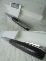 Faber Castell Loom Piano Nero Penna Sfera + Scatola Black & Steel Ball Pen + Box - $33.61