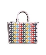 Tory Burch Robinson Embroidered Small Zip Tote in New Ivory Multi - $329.99