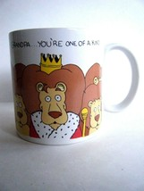 Grandpa You're One Of A Kind Coffee Mug Cup Lions Design Russ Berrie Co - $5.89