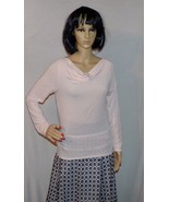 Woman's Top Pink Blouse Stretch to Fit Size M Long Sleeved by The GAP - $7.87