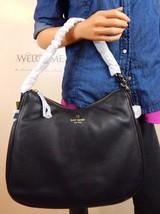 NWT KATE SPADE Cobble Hill Finley Black Soft Leather Hobo Shoulder Bag P... - $188.09