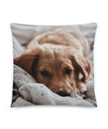 Dog Pillow, Sleepy Puppy, Dog Mom, Dog Dad, Dogs, Animals, Pets, Dog Portrait - £25.65 GBP - £30.06 GBP