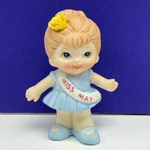 Miss May enesco birthday girl figurine beauty pageant porcelain miniature statue - $19.75