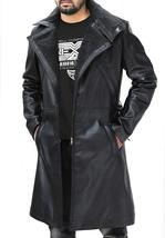 Ryan Gosling Blade Runner Officer K Fur Collar Black Leather Belted Trench Coat image 4