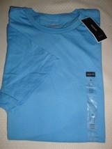 NEW MACY'S ALFANI MEN'S CREW NECK SHORT SLEEVE T-SHIRT PALE BLUE SMALL - $7.91