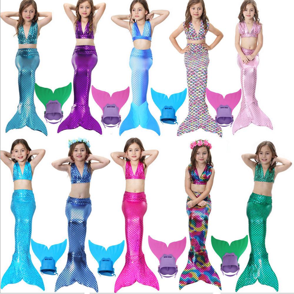 d37a6898c1 Kids Girls 3Pcs Mermaid Tail Swimming Bikini and 36 similar items. S l1600