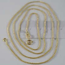 SOLID 18K YELLOW GOLD SPIGA WHEAT EAR CHAIN 16 INCHES, 1.2 MM, MADE IN ITALY  image 1