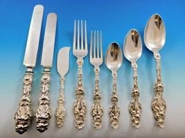 Lily by Whiting Sterling Silver Flatware Set Service 80 Pieces Script Monogram - $9,600.00