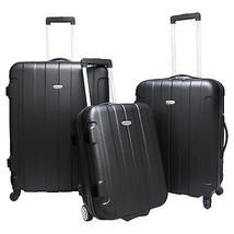 Black Rome Hardside 3pc Spinner Rolling Luggage Suitcase Wheeled Travel ... - $128.69