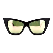 Womens Oversized Sunglasses Square Cateye Butterfly Frame Mirror Lens - $12.95