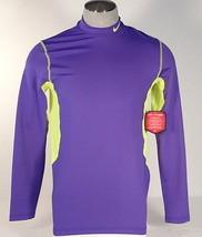 Nike Pro Combat HyperWarm Dri Fit Max Purple & Volt Fitted Shirt Men's NWT - $56.24