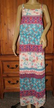 Derek Heart Floral Multi-Color Maxi Dress Full-Length Polyester Size: Plus 2X