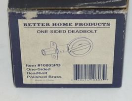 Better Home Products 10803PB One Sided Deadbolt Polished Brass image 7