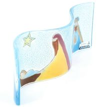 Fused Art Glass 3 King Christmas Nativity Wavy Sun Catcher Handmade Ecuador image 3