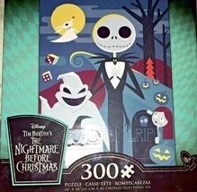 Nightmare Before Christmas 300 Piece Jigsaw Puzzle Jack Oogie Boogie Zero - $19.99